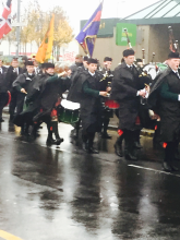Pipe Band at Port Glasgow Remembrance Day Service