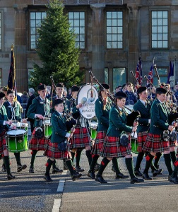 Pipe Band Christmas Performance