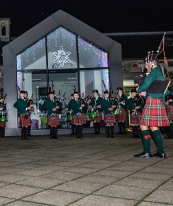 Pipe Band Village Performance