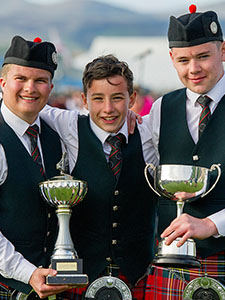 1st place at Gourock Highland Games for the Pipe Band