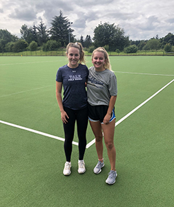 Hockey stars and Former Pupils Imogen and Maddie return to their old stomping ground.