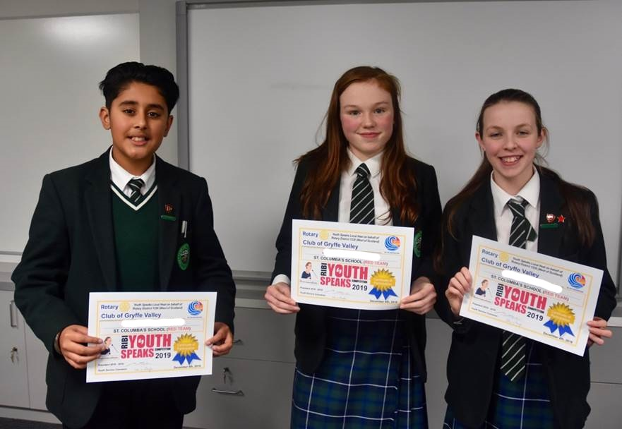 St Columba's Hosts First Round of Youth Speaks Competition