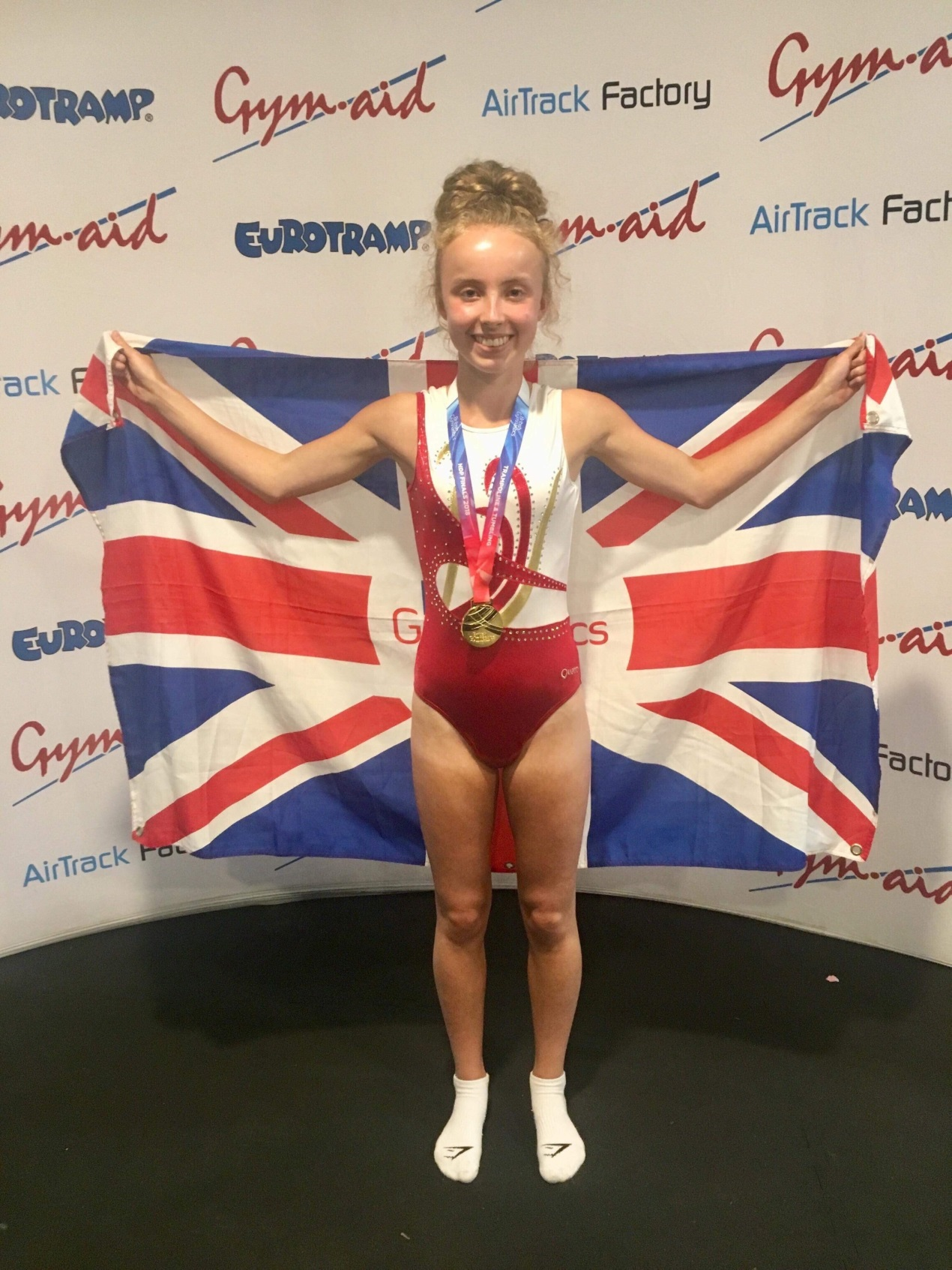 St Columba's Kirsty is Crowned Trampolining Champion