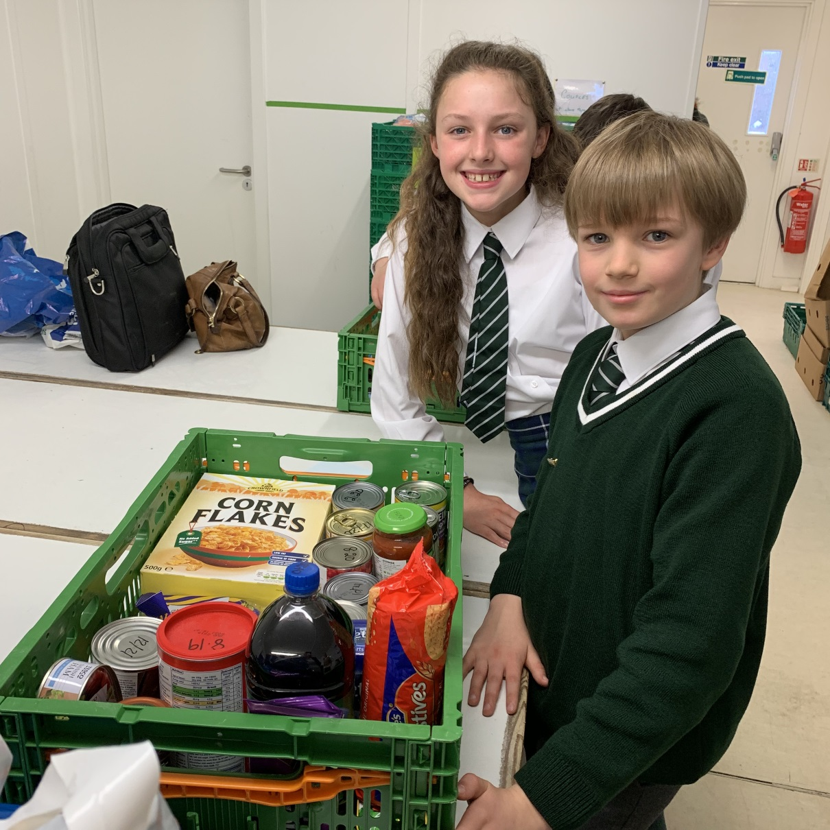 St Columba's School donation to Renfrewshire Foodbank