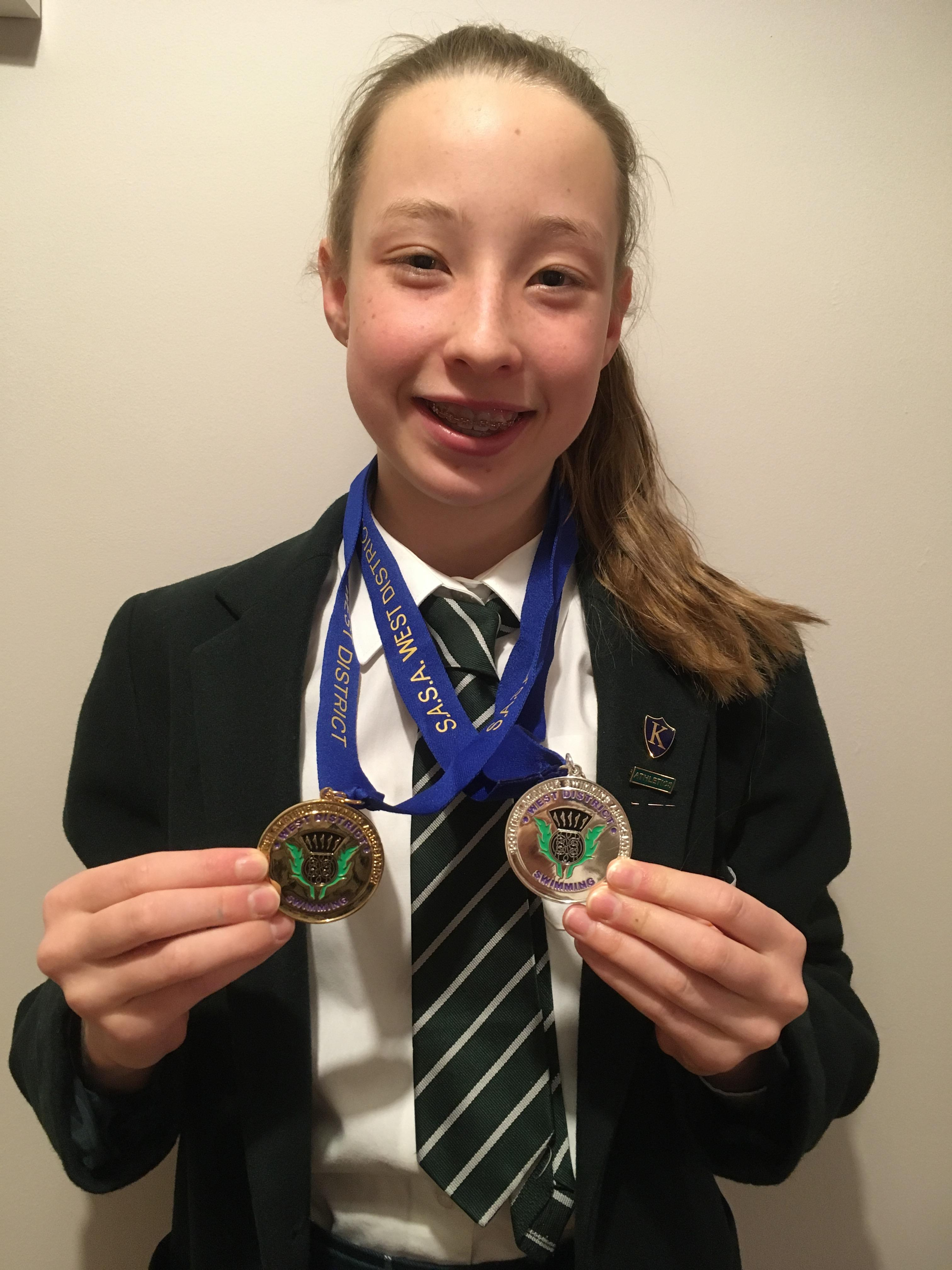 St Columba's Pupil Competes at the West District Age Group Swimming Championships