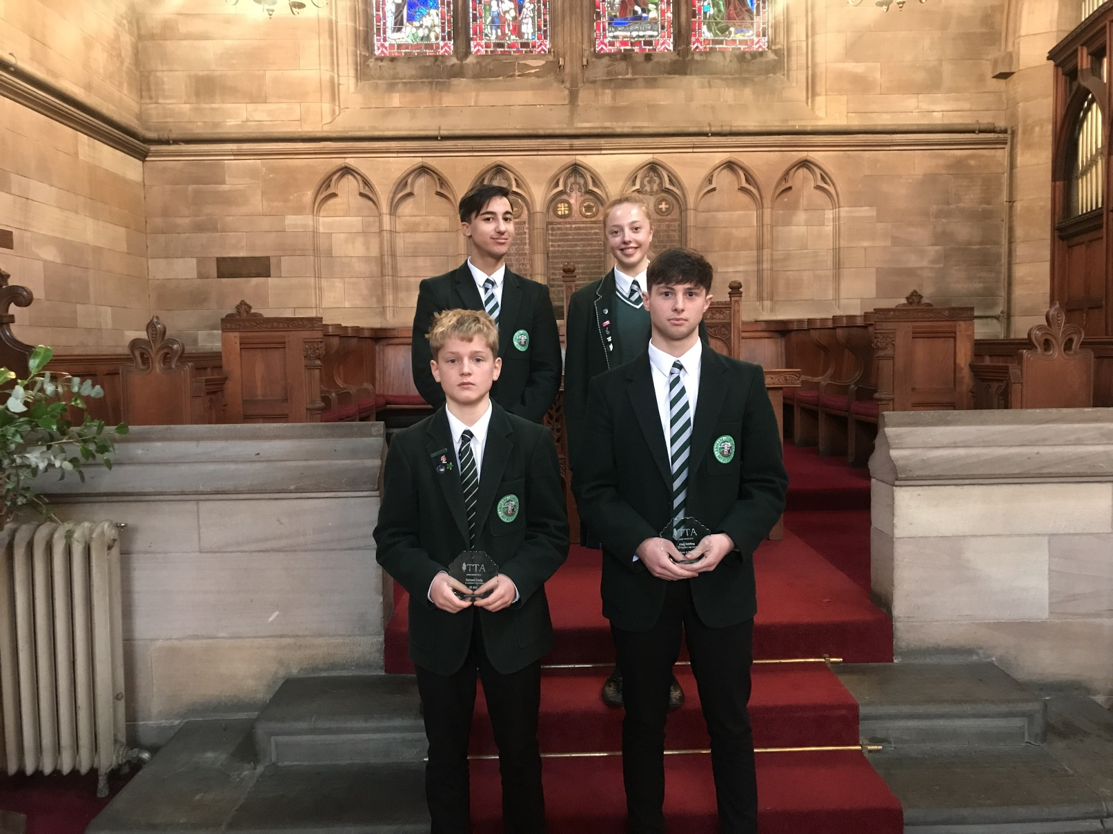 St Columba's Pupils Attend Technology Teachers Association Awards