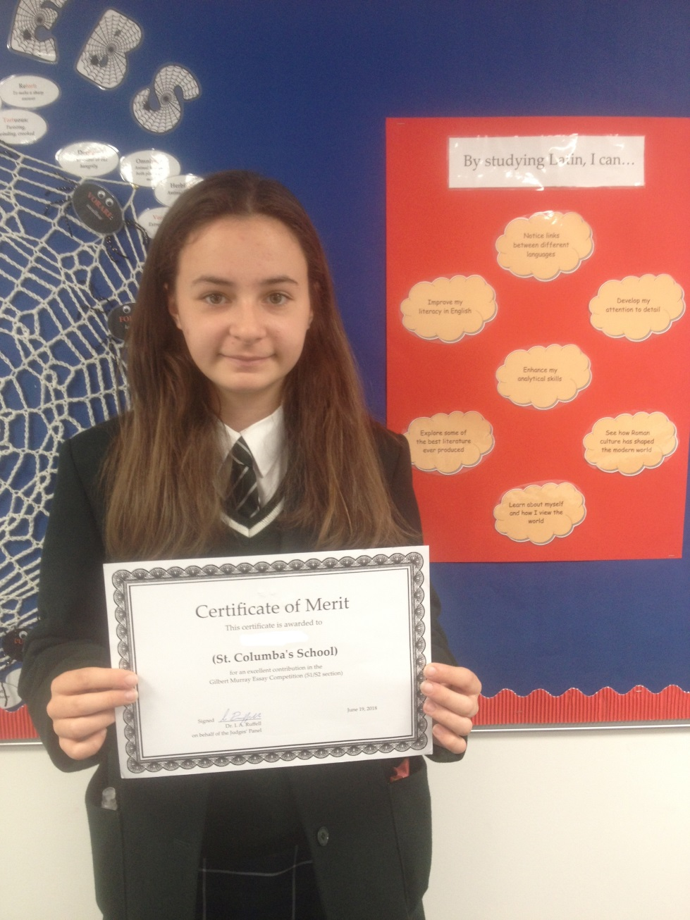 St Columba's Pupil Enters Gilbert Murray Classics Essay Competition