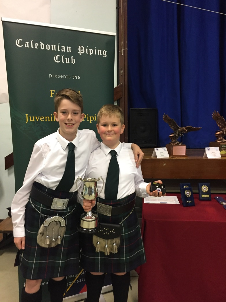 St Columba's Pupil Wins Piping Competition